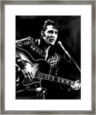 The King Of Rock Framed Print by VRL Art