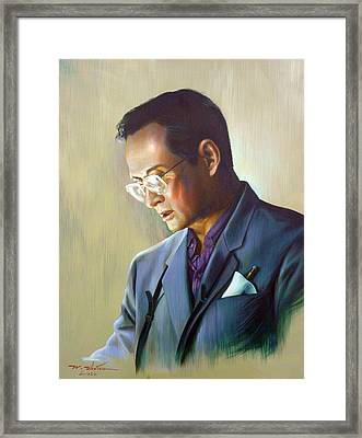 The King Of Thailand Framed Print