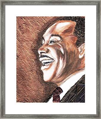 The King Smiles Framed Print by Keenya  Woods