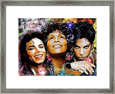 The King, The Queen And The Prince Framed Print by Daniel Janda