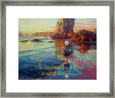 The Kingdom Belongs To These Framed Print