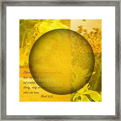 The Kingdom Of God Is Like A Mustard Seed Framed Print by Ruth Palmer