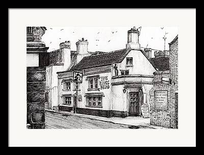 Port Town Drawings Framed Prints