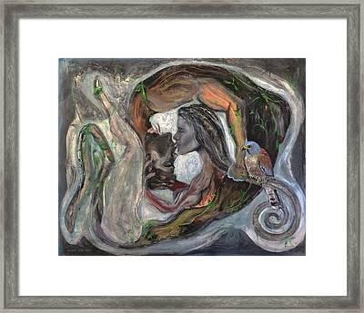 The Kiss  Framed Print by Antonio Ortiz