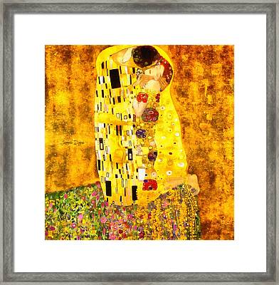The Kiss By Gustav Klimt Revisited - Da Framed Print