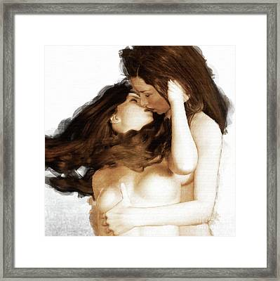 The Kiss By Mary Bassett Framed Print