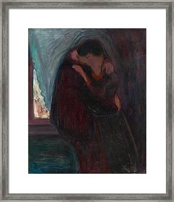 The Kiss Framed Print by Edvard Munch