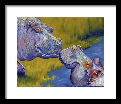 Hippopotamus Framed Prints