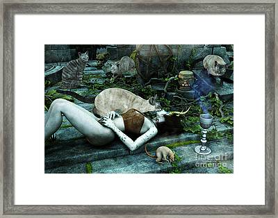 The Kiss Framed Print by Jutta Maria Pusl