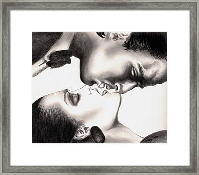 The Kiss Framed Print by Kathleen Kelly Thompson