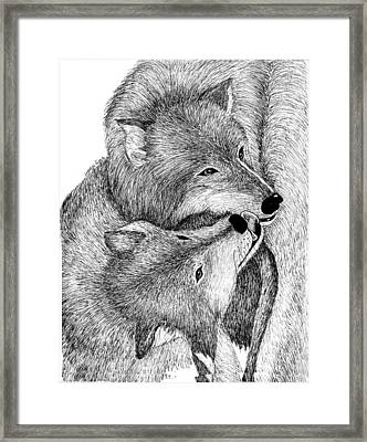 The Kiss Framed Print by Lorraine Foster