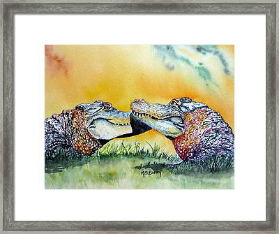 The Kiss Framed Print by Maria Barry