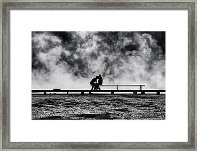 The Kiss Framed Print by Mark Kiver
