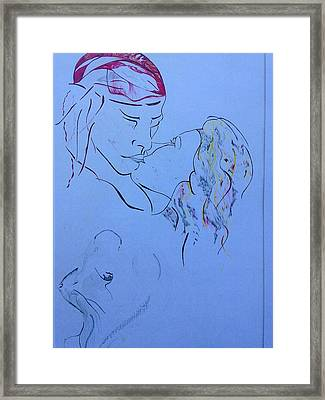 The Kiss Framed Print by Contemporary Michael Angelo