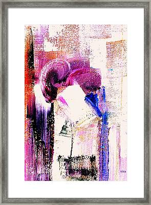 The Kiss Framed Print by VIVA Anderson