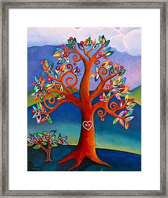 The Kissing Tree Framed Print