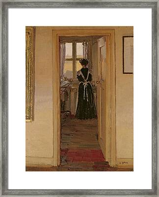 The Kitchen Framed Print by Harold Gilman
