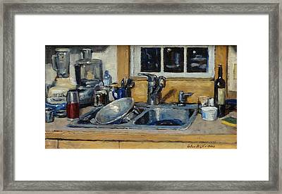 The Kitchen Sink Framed Print by Thor Wickstrom