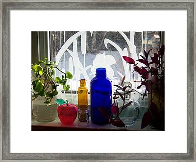 The Kitchen Window Sill Framed Print