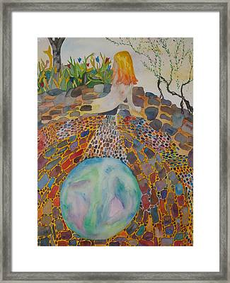 The Kiva Framed Print by Aline Kala