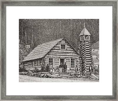 The Klondike Presbyterian Church Framed Print