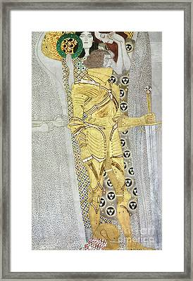 The Knight Framed Print by Gustav Klimt