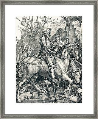 The Knight Of Death. Sin And Death Framed Print