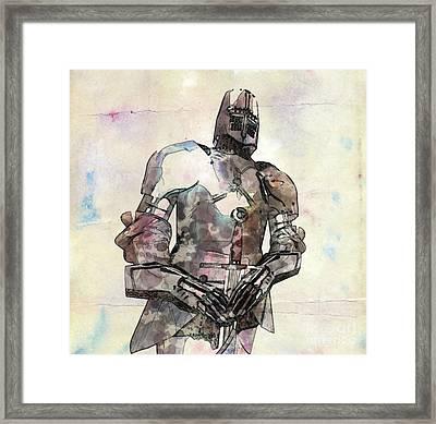 The Knight Pop Art By Mary Bassett Framed Print