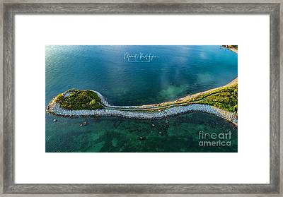 Framed Print featuring the photograph The Knob by Michael Hughes