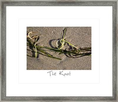 The Knot Framed Print by Peter Tellone