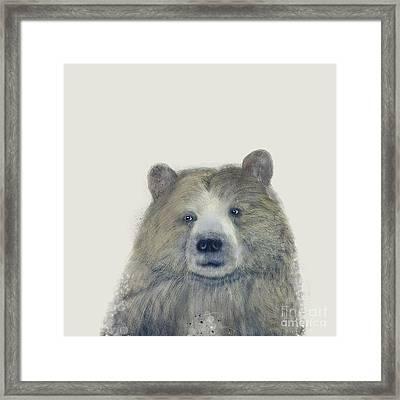 Framed Print featuring the painting The Kodiak Bear by Bri B