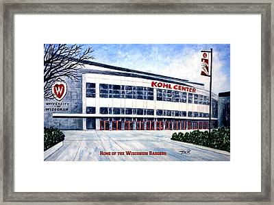 The Kohl Center Framed Print by Thomas Kuchenbecker