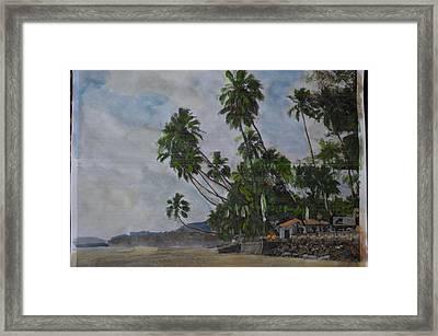 The Konkan Coastline Framed Print