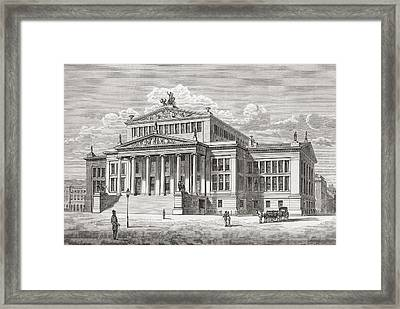 The Konzerthaus Berlin, Gendarmenmarkt Framed Print by Vintage Design Pics