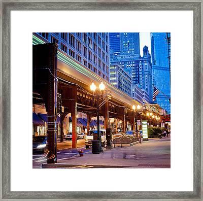 The L Framed Print