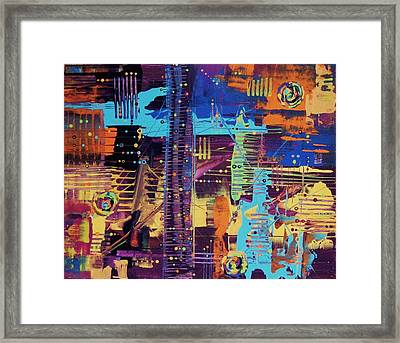 The La Sky On The 4th Of July Framed Print