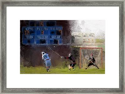 The Lacrosse Shot Framed Print