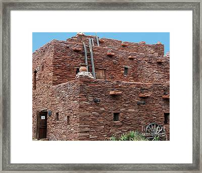 The Ladders Of The Hopi House Framed Print