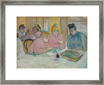 The Ladies In The Dining Room Framed Print