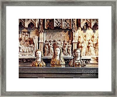 The Ladies On The Altar Framed Print by Sarah Loft