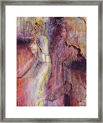 The Lady And The Monk  Framed Print