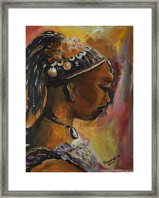 Framed Print featuring the painting The Lady by Bernadette Krupa