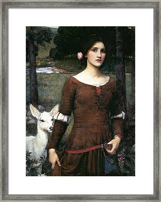 The Lady Clare Framed Print by John William Waterhouse