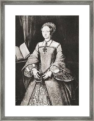 The Lady Elizabeth, Aged Thirteen Framed Print by Vintage Design Pics