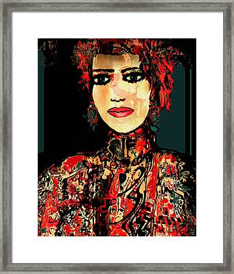 The Lady In Red Framed Print by Natalie Holland