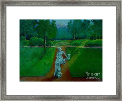 The Lady In The Park     Copyrighted Framed Print by Kathleen Hoekstra