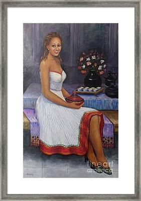 The Lady In Waiting Framed Print