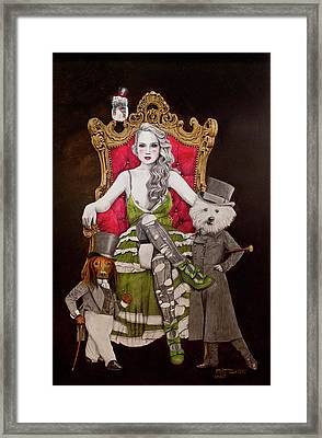 The Lady Of Erstwhile And The Royal Guard Framed Print