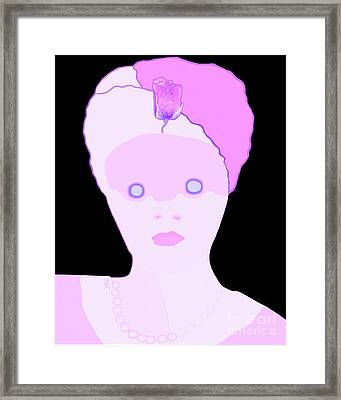 Framed Print featuring the painting The Lady Of Peacock Hill by Marian Cates