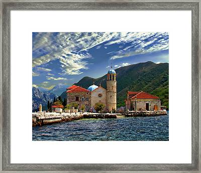 The Lady Of The Rocks Framed Print